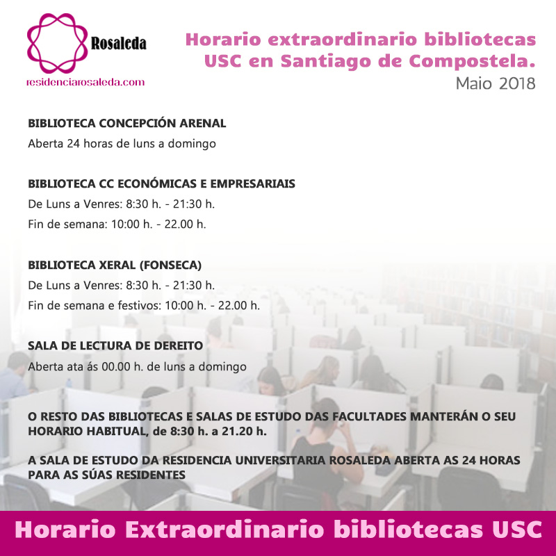 Horarios Bibliotecas USC